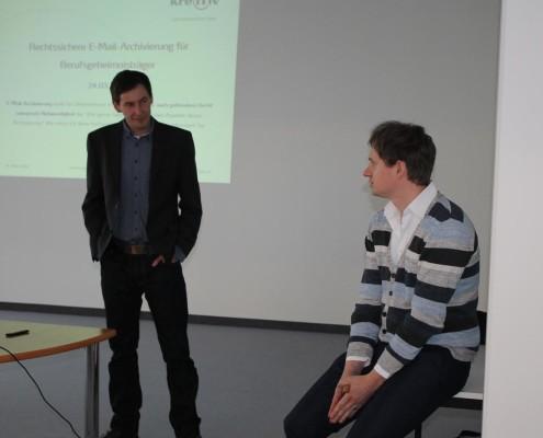 Die Referenten der Veranstaltung - Markus Schumann und Mike Rasch