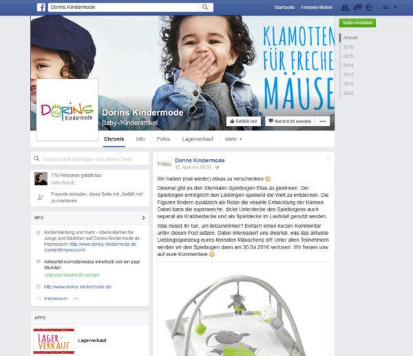 Dorins Kindermode Facebook