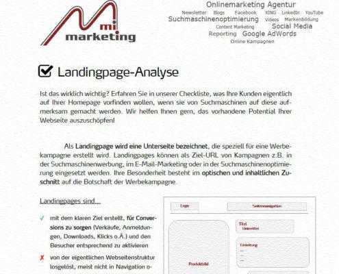 Anleitung für Aufbau und Inhalt optimaler Landingpages