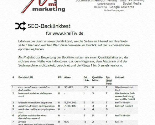 Wir testen Ihr Backlinkprofil und zeigen Möglichkeiten zur Optimierung