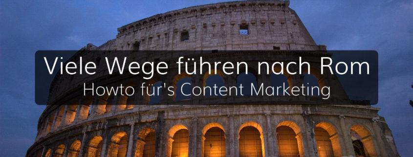 Inhalt, Form und Kanal, entscheidende Eckpunkte im Content Marketing