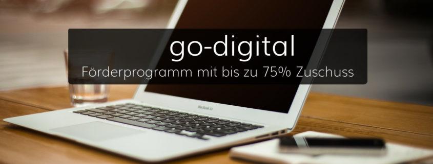 Go Digital mit bis zu 75% Förderung vom BMWi