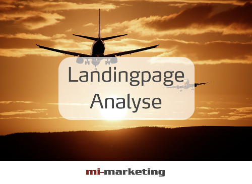 Landingpage-Analyse von mi-marketing