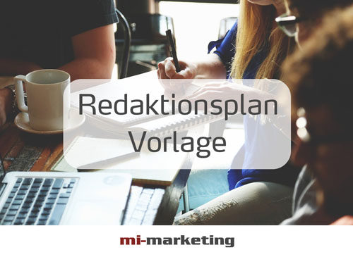 Redaktionsplan Vorlage von mi-marketing