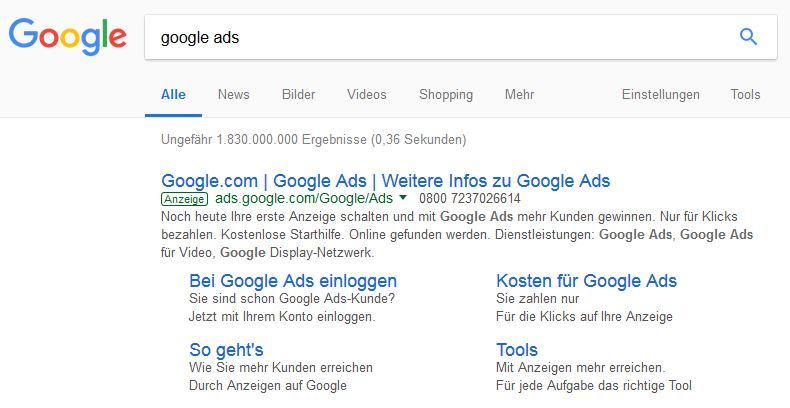 Google AdWords Schulung