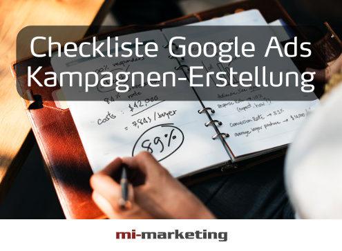 Checkliste Google Ads Kampagnen-Erstellung