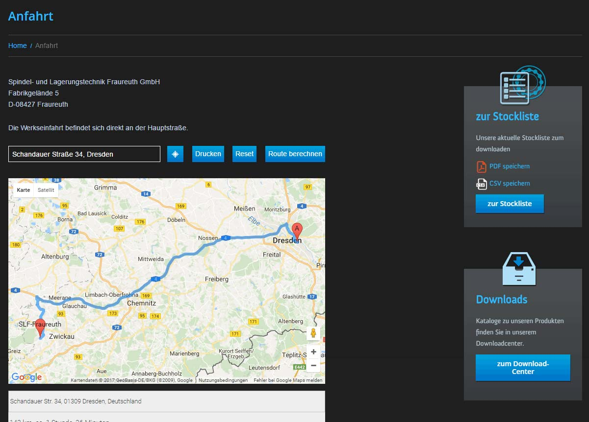 Google Maps Plugin, Darstellung 1