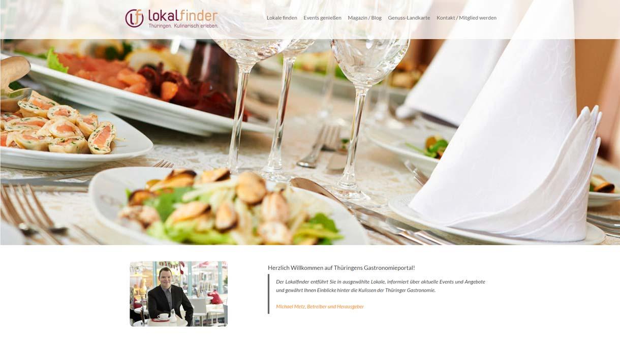 Screenshot der Webseite www.lokalfinder-thueringen.de