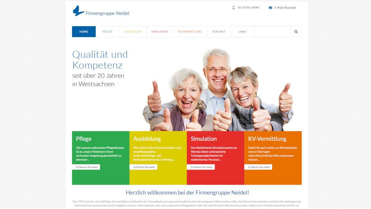 Screenshot der Webseite www.notfallmedizin-sachsen.de